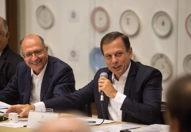 O prefeito de São Paulo, João Doria (PSDB), e o governador paulista Geraldo Alckmin (PSDB) (Foto: Alexandre Carvalho/A2img/Fotos Públicas)