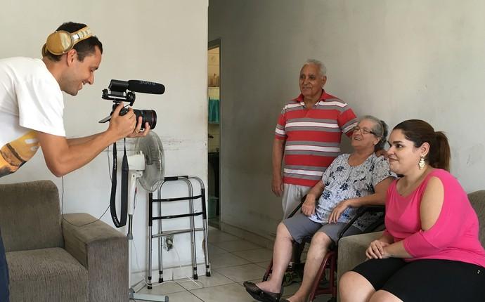 Família Oliveira, ganhadora da promoção Decora em Ação (Foto: Sheila Rocha)