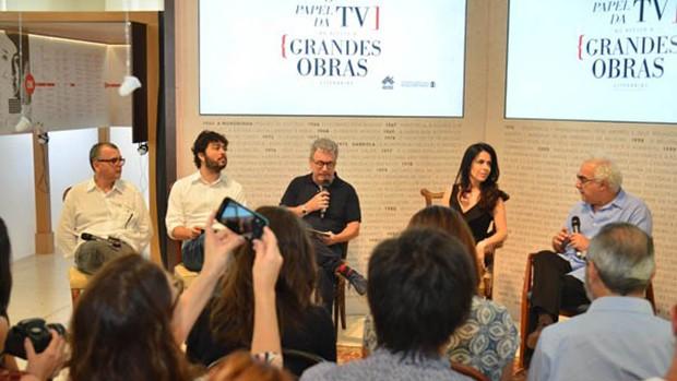 Globo debate o papel da TV no acesso a obra literárias (divulgação)
