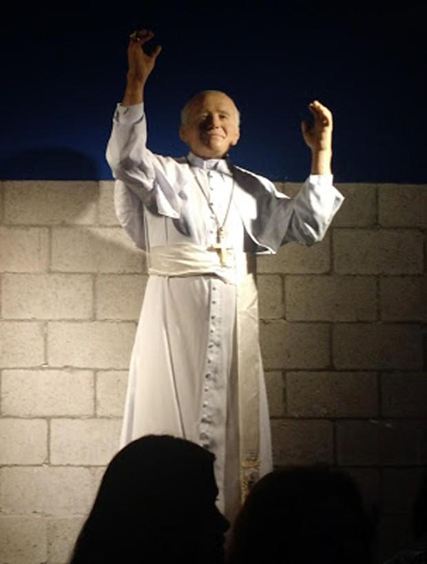 Estátua de cera de João Paulo II (Foto: Reprodução)