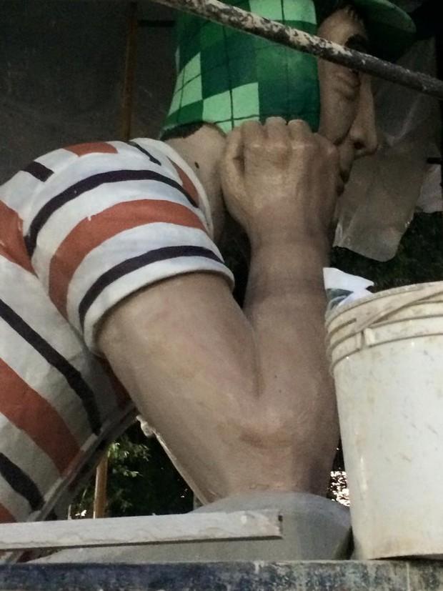 Estátua do Chaves (Foto: Reprodução/Facebook)