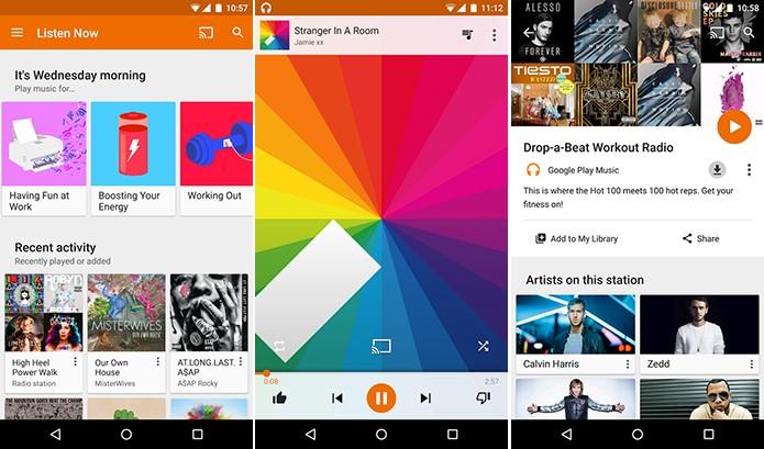 Play Music é um serviço de streaming concorrente do Spotify, Apple Music e Rdio (Foto: Divulgação/Play Store)
