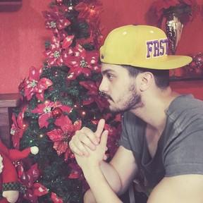 Luan Santana posa com árvore de Natal (Foto: Instagram/ Reprodução)