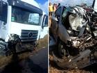 Acidente envolvendo carro e carreta mata duas pessoas na RN-120