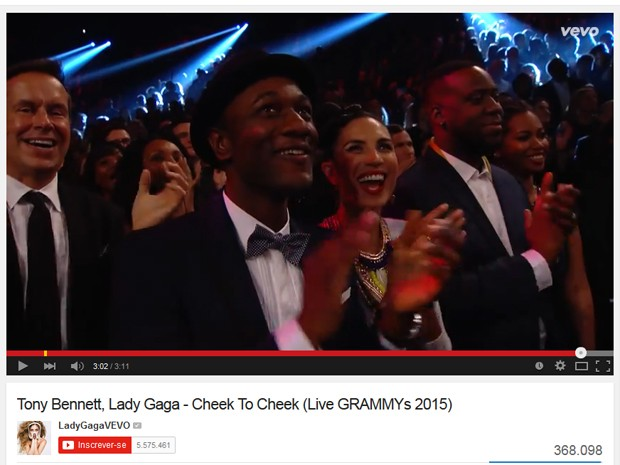 Lady Gaga divulga vídeo 'editado' de sua apresentação no Grammy, com aplausos de show da Madonna (Foto: Reprodução/YouTube)