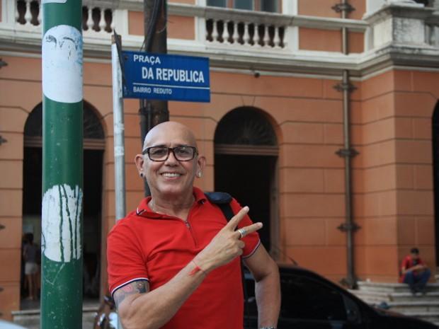 Eloi Iglesias comanda a Festa da Chiquita (Foto: Alexandre Yuri / G1)