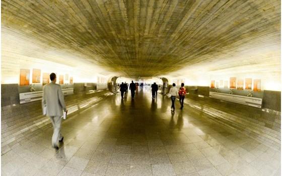 O Túnel do Tempo, no Senado  (Foto: Ana Volpe/Senado Federal)