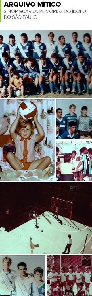 Mosaico Rogério Ceni infância/adolescência (Foto: Editoria de arte)
