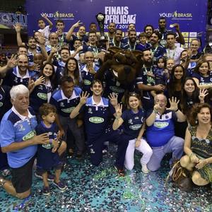 Cruzeiro campeão superliga amsculina vôlei (Foto: Douglas Magno / DM Press / SADA Cruzeiro)