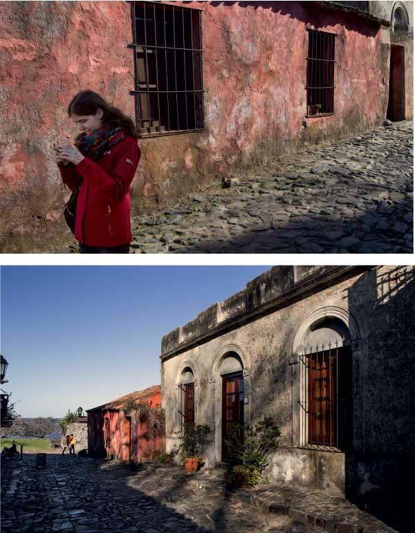 Acima e abaixo, construções antigas e rua de pedras no centro histórico (Foto: Marcio Scavone)