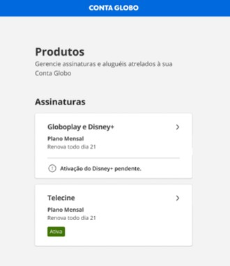 Globoplay - Ativação Disney +  (Foto: Globoplay)