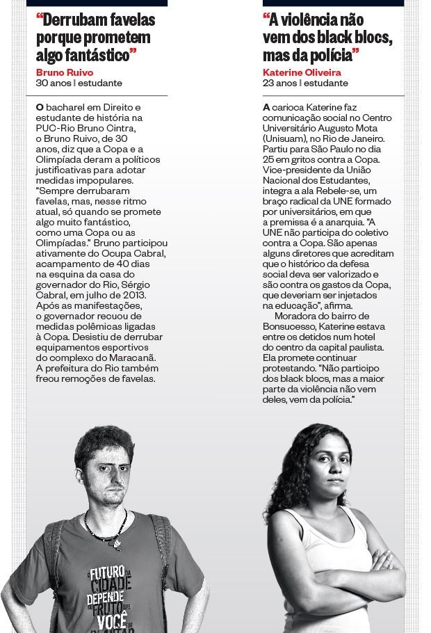 Bruno Ruivo e Katerine Oliveira  (Foto: Filipe Redondo/ÉPOCA e Tomás Rangel/ÉPOCA)