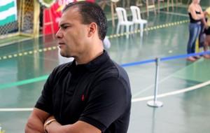 Harlei ex-goiás, no velório de Fernandão (Foto: Fernando Vasconcellos)