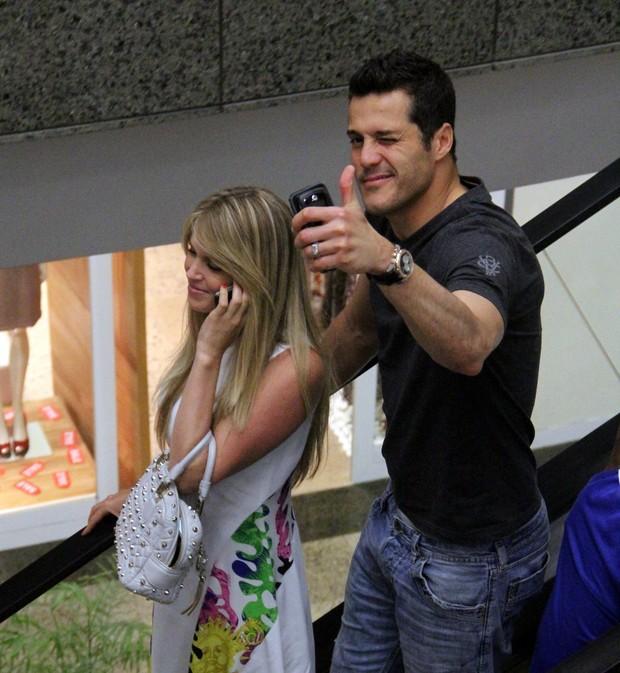 Julio Cesar e Susana Werner (Foto: Marcus Pavão / AgNews)