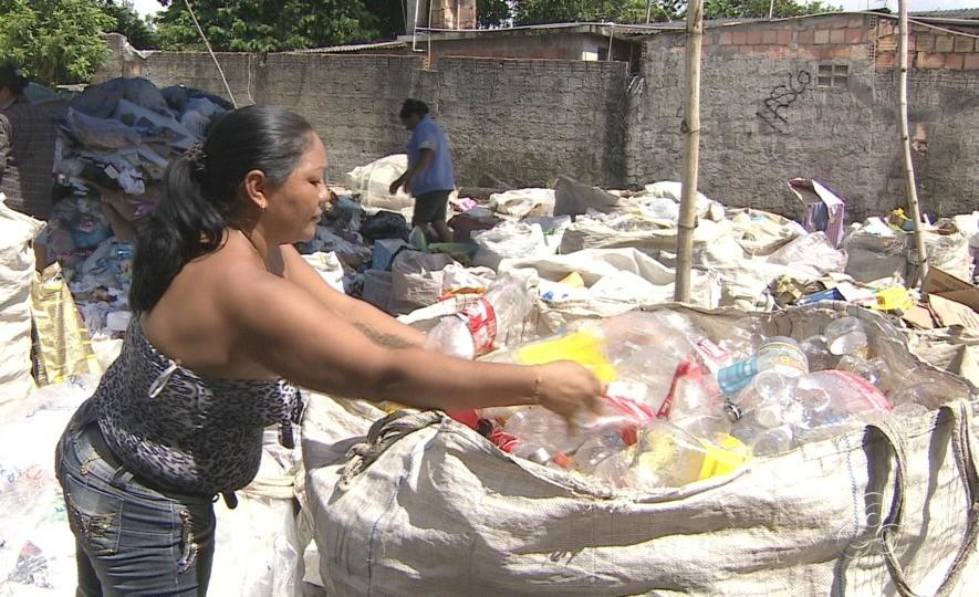 Associações de catadores vão receber doação de materiais recicláveis (Foto: Jornal do Amazonas)