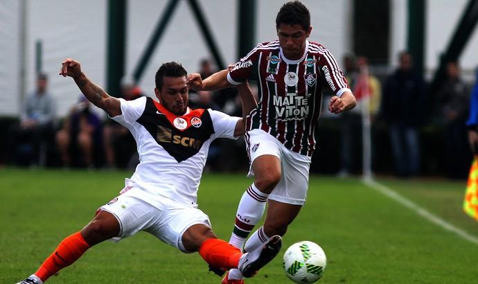 Osvaldo, do Fluminense, contra o Shakhtar Donetsk (Foto: Nelson Perez/Fluminense F.C.)