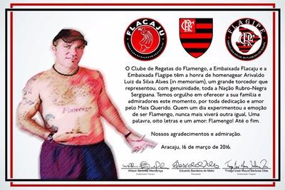 Ari, torcedor-símbolo do Flamengo, Sergipe, Aracaju, Flamengo (Foto: Divulgação)