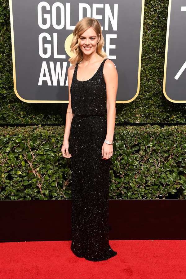 BEVERLY HILLS, CA - JANUARY 07:  Actor Samara Weaving attends The 75th Annual Golden Globe Awards at The Beverly Hilton Hotel on January 7, 2018 in Beverly Hills, California.  (Photo by Frazer Harrison/Getty Images) (Foto: Getty Images)