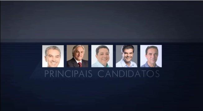 Debate entre os candidatos ao governo de MS (Foto: TVMO)
