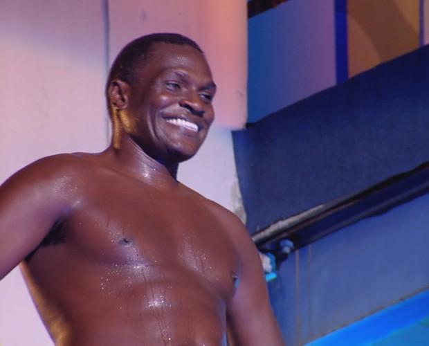 Jacaré enfrentou o nervosismo e participou do Saltibum (Foto: Ellen Soares / Gshow)