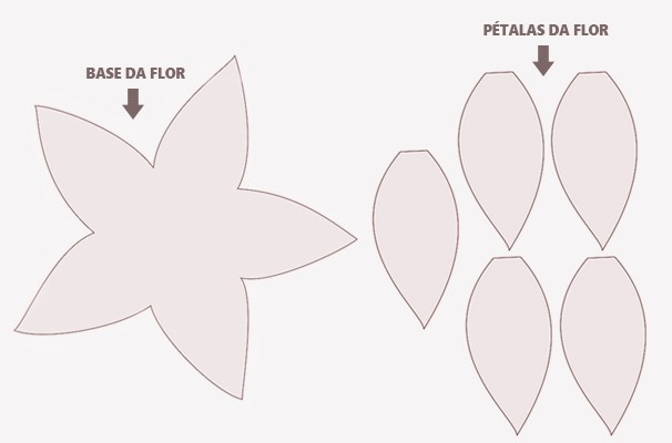 Arvore de Natal Solidária - Molde Ponsettia de feltro (Foto: divulgação)