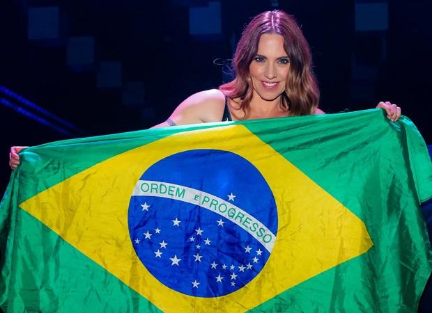 Mel C durante pocket show em São Paulo (Foto: Manuela Scarpa/Brazil News)