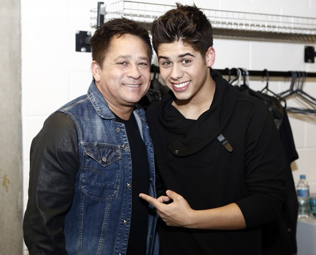 Os dois se apresentaram juntos no palco do Domingão (Foto: Fábio Rocha / TV Globo)