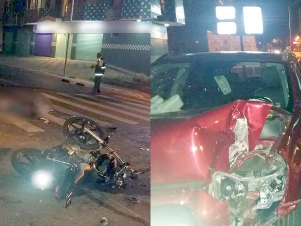 Acidente mata motociclista e deixa duas mulheres feridas em Goiânia, Goiás (Foto: Divulgação/Polícia Civil)