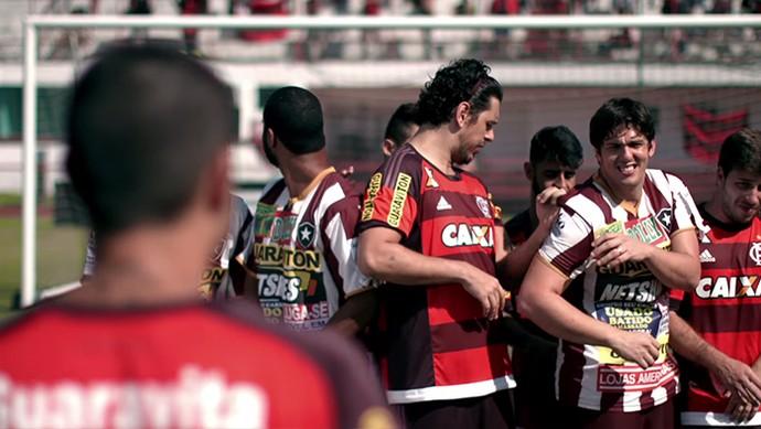 Porta dos Fundos e vídeo sobre excesso de anúncios na camisa do Botafogo (Foto: Reprodução)