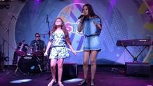 Ystefani e Flávia Scanuffo, do The Voice Kids, juntas no litoral; reveja  (divulgação/RPC)