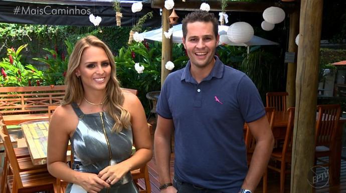 Aline Lima e Pedro Leonardo apresentam as novidades deste sábado (11) (Foto: reprodução EPTV )