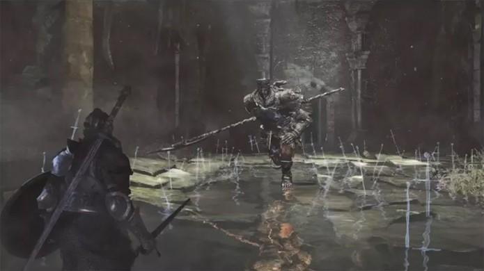 Imagem mostra um inimigo aparentemente comum de Dark Souls 3 (Foto: Reprodução/OnlySP)