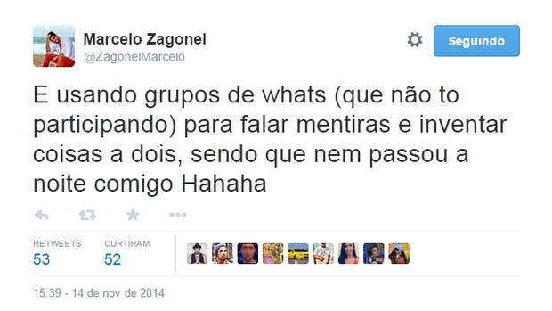 Marcelo Zagonel no Twitter (Foto: Reprodução/Twitter)