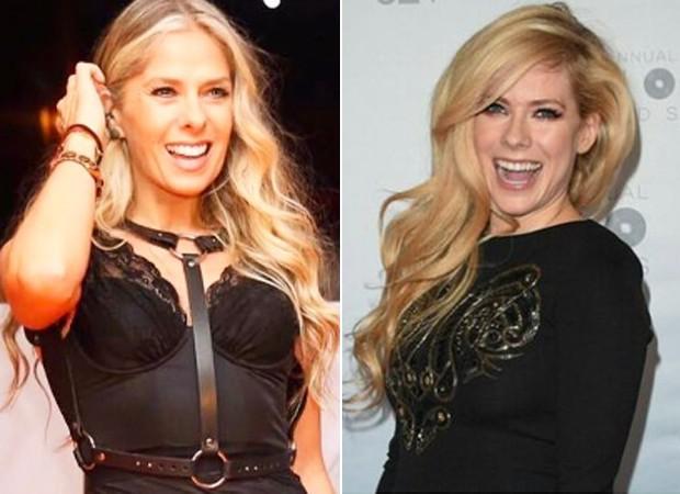 Adriane Galisteu e Avril Lavigne (Foto: Reprodução)