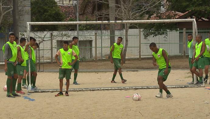 Serrano-PB, treino (Foto: Reprodução / TV Paraíba)