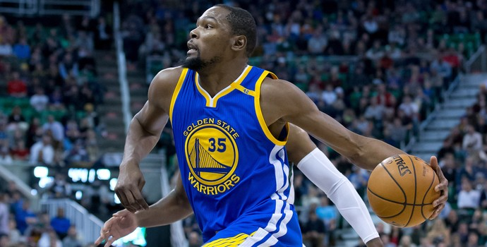 Kevin Durant Warriors x Jazz NBA (Foto: Reuters)