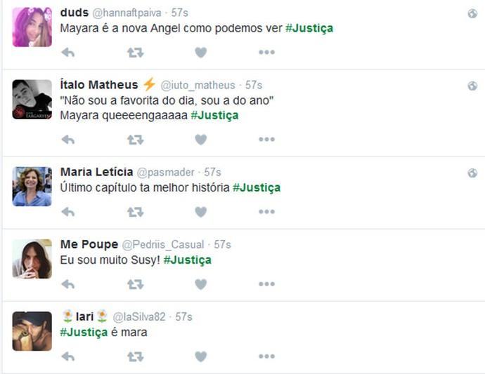 Frase de Mayara faz sucesso (Foto: TV Globo)