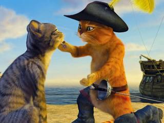 O conquistador Gato de Botas é conquistado (Foto: Divulgação)