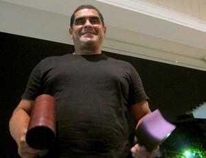chicão fisioterapeuta  (Foto: Janir Júnior / Globoesporte.com)