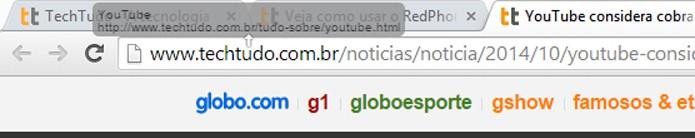 Links podem ser abertos em posições ou abas específicas (foto: Reprodução/Chrome)