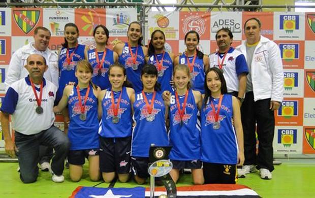 Beto Sports/Maranhão Basquete foi segundo lugar no Sulamericano sub-16 2012, no Rio Grande do Sul (Foto: Divulgação)