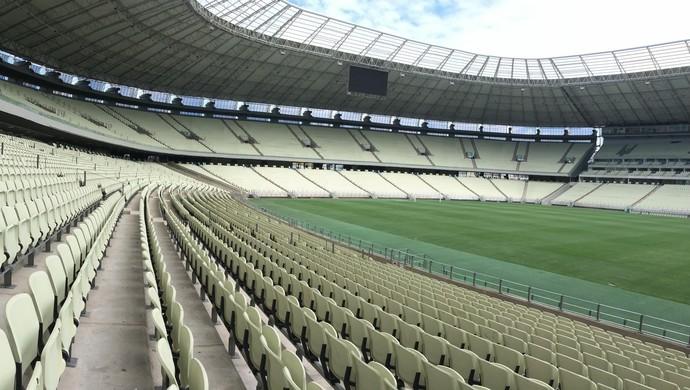 Francisca Falcão, pedreira, Arena Castelão (Foto: Sebastião Mota/G1)