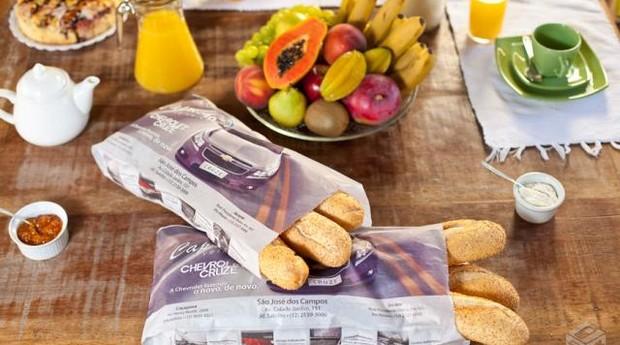 A Mídia Pane vende anúncios em sacos de pão. Franquia está na categoria de Comunicação, que registrou avanço expressivo em 2014 (Foto: Divulgação)