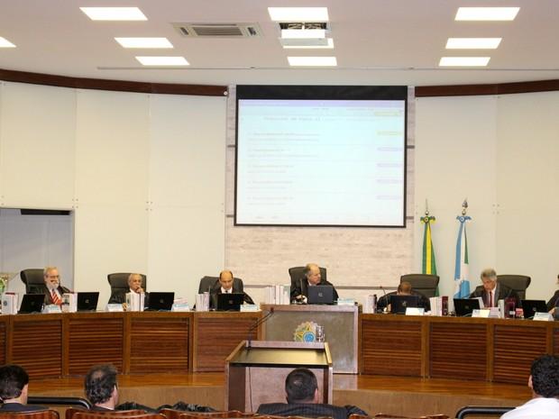 Plenário TRE-MS (Foto: Fabiano Arruda/G1 MS)