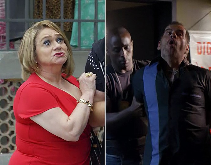 Dona Marisa e Genésio vão presos (Foto: TV Globo)