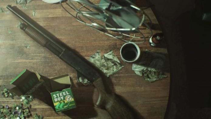Escopeta pode matar alguns inimigos de Resident Evil 7 com um só tiro (Foto: Divulgação/Capcom)