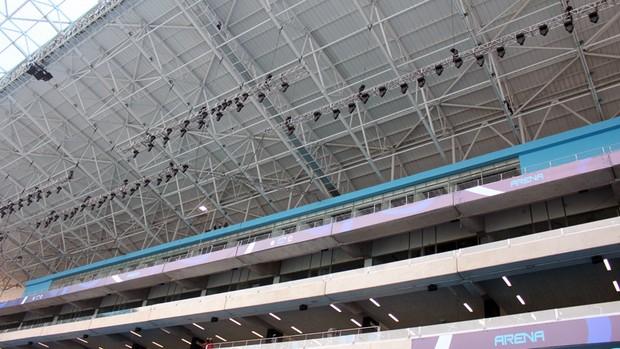 arena do grêmio arena grêmio luzes (Foto: Fernando Lopes/Globoesporte.com)