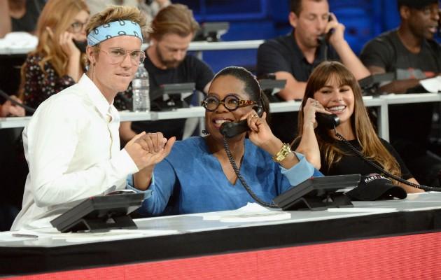 Justin Bieber, Oprah Winfrey e Sofia Vergara (Foto: Getty)