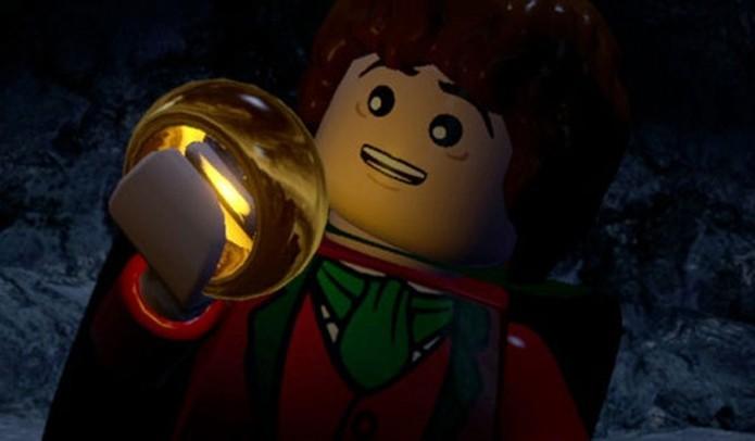 Frodo, herói de O Senhor dos Anéis, também aparece em LEGO Hobbit (Foto: Divulgação)