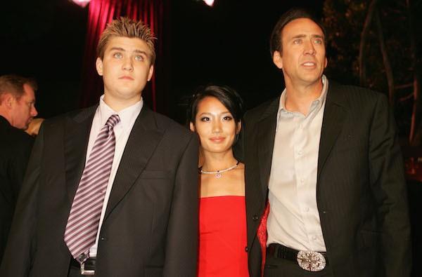 Nicolas Cage com sua ex-esposa e o filho mais velho, Weston Cage (Foto: Getty Images)